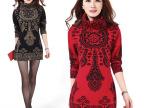 2014冬季新款韩版中长款加厚毛衣中老年女装针织衫外套