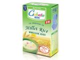 高贝乐 婴幼儿天然谷物辅食系列 薏米百合营养蒸谷小米奶米粉一段