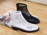 欧洲站2013春夏新款 大码女鞋平底网纱眼 骷髅头 凉鞋凉靴
