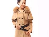 双面羊绒大衣韩版加厚毛呢大衣 毛呢外套