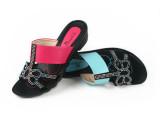 爆款 2014年夏季 新款潮女鞋 休闲 坡跟女拖鞋 温州女鞋 批