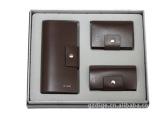供应男士高档品牌商务皮具套装 礼品套装 两件套/三件套