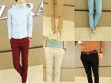 夏季时尚修身英伦男士休闲裤 英伦休闲裤男裤 男式小脚瘦身裤
