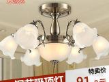 复古 欧式吊灯 吸顶灯 铁艺吊灯 客厅卧室灯具 餐厅吊灯 质保三