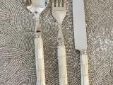 欧式高档牛排刀叉勺 天然牛骨西餐3件套装 高级酒店晚宴餐具 批发