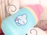 新款天使奶瓶公仔绒玩具公仔带翅膀创意抱枕 超大号毛绒玩具抱枕