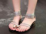 欧洲站凉鞋女2014夏季新款罗马凉鞋女平底夹趾水钻休闲女凉鞋低跟