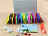 义乌批发24色超级粘土20克每包共24包 益智玩具彩泥橡皮泥白底
