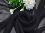 黑色真丝01乔其纱服装面料 衬衫连衣裙丝绸布料