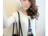 2014春装新款t恤打底衫女装韩版短袖时尚上衣女丅恤潮
