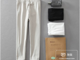 独立包装女裤 外贸日单女式打底裤七分裤纯色百搭弹力棉休闲裤