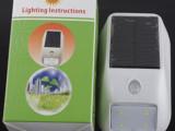 新款太阳能人体感应灯4LED超亮户外灯进门灯迷你灯防盗灯室外灯具