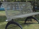 廣州雅亭YT-S10不銹鋼景觀座椅金屬公園長椅
