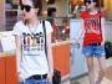2014春夏装新款短袖女t恤阿依莲潮夏季女装少女装白色纯棉小衫