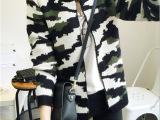 2015秋季学院风 欧洲站女装新款开衫外套短款迷彩服针织衫毛衣潮