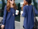 新款秋冬韩版女装复古毛衣外套女宽松大码中长款打底毛衣