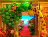 飞屋气球派对 森林卡通主题气球装饰 生日宴商场dp