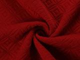 柯桥厂家直销 几何图形空气层提花针织面料 秋冬女装裤装提花面料