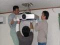 大亚湾投影机销售、投影仪 幕布安装布线