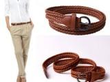 特价018WB生产松紧编织皮带 女式编织腰带 针扣皮带 厂家批发