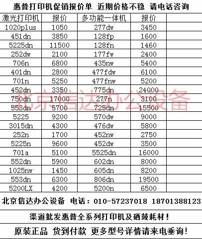 惠普451DN打印机超值优惠限量3850元,货到付款!
