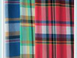 2014新品批发全棉提花色织格子布高档衬衣面料提花大方格热销产品