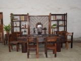 老船木茶桌椅组合仿古茶台老榆木鸡翅木花梨木实木新中式加工定制