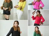2014女冬季新款奢华熊猫款超大毛领短款羽绒服女装韩版潮厂家批发