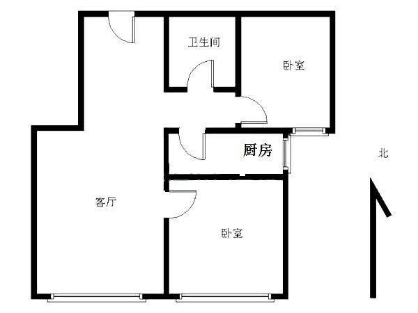 燕郊 星河皓月 2室 2厅 88平米 整租星河皓月