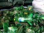 厂家大量供应 再生pet 聚酯 再生料 绿瓶