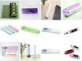 消毒卫生耐用牙刷塑料透明电池牙刷盒紫外线便携式牙刷盒速卖通