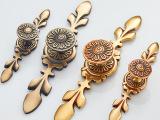 欧式全铜书柜衣橱鞋柜门把手纯铜欧式美式仿