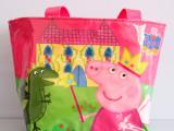 peppa pig 粉红猪小妹儿童尼龙背包购物包挎包佩佩猪单肩包