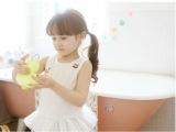 2014夏款韩版女童樱桃刺绣花边裙衫 儿童纯棉背心裙 外贸童装