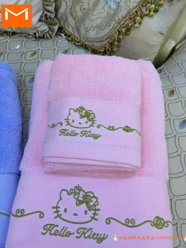 加LOGO批发定做中高档酒店宾馆客房床上用品客房毛巾