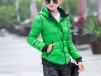 棉衣女短款2015冬季新款韩版修身羽绒服短款女装棉衣连帽保暖外套