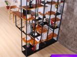 纯熙铁艺办公家用隔断置物架落地书架酒柜厂家直销规格订制