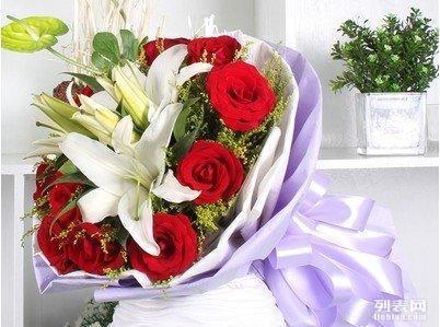 花店市区包邮 玫瑰花束康乃馨花束