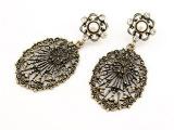 A1206 韩版 复古饰品 OL气质 镶宝石 大镂空耳钉耳饰