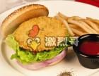 非常酥脆美味肉厚的食品香辣鸡腿堡
