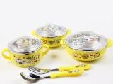 儿童不锈钢碗餐具韩式宝宝餐具防摔保温杯碗勺叉五件套2175