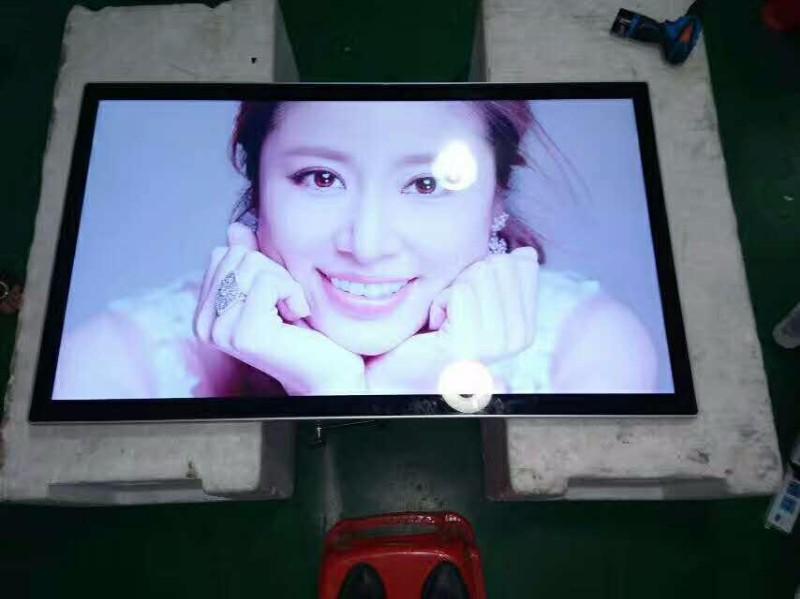 供应贵州49寸挂式仿苹果款广告机显示屏