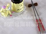 1元特卖  彩纹不锈钢筷子  不锈钢彩纹餐具  不锈钢制品