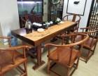 转让实木大板桌原木老板办公桌会议工作桌简约茶桌茶几大班台组合