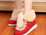 一件代发 9148羊皮毛一体雪地靴 冬季保暖雪地棉鞋里外全真皮女