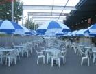 聊城大型帐篷搭建 靠背椅 塑料凳子 沙发租赁