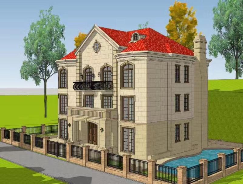 南充仪陇自建房 别墅 小洋房 乡镇房屋 景观设计及施工