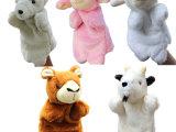 现货一件起批大号动物手偶玩具绵羊卡通毛绒公仔亲子游戏讲故事