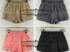 9009 E 迪 Q一派2013夏季新款时尚拼接纯棉短裤女