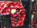 烟台专业汽车音响改装烟台悦声奔驰V260大能红派隔音